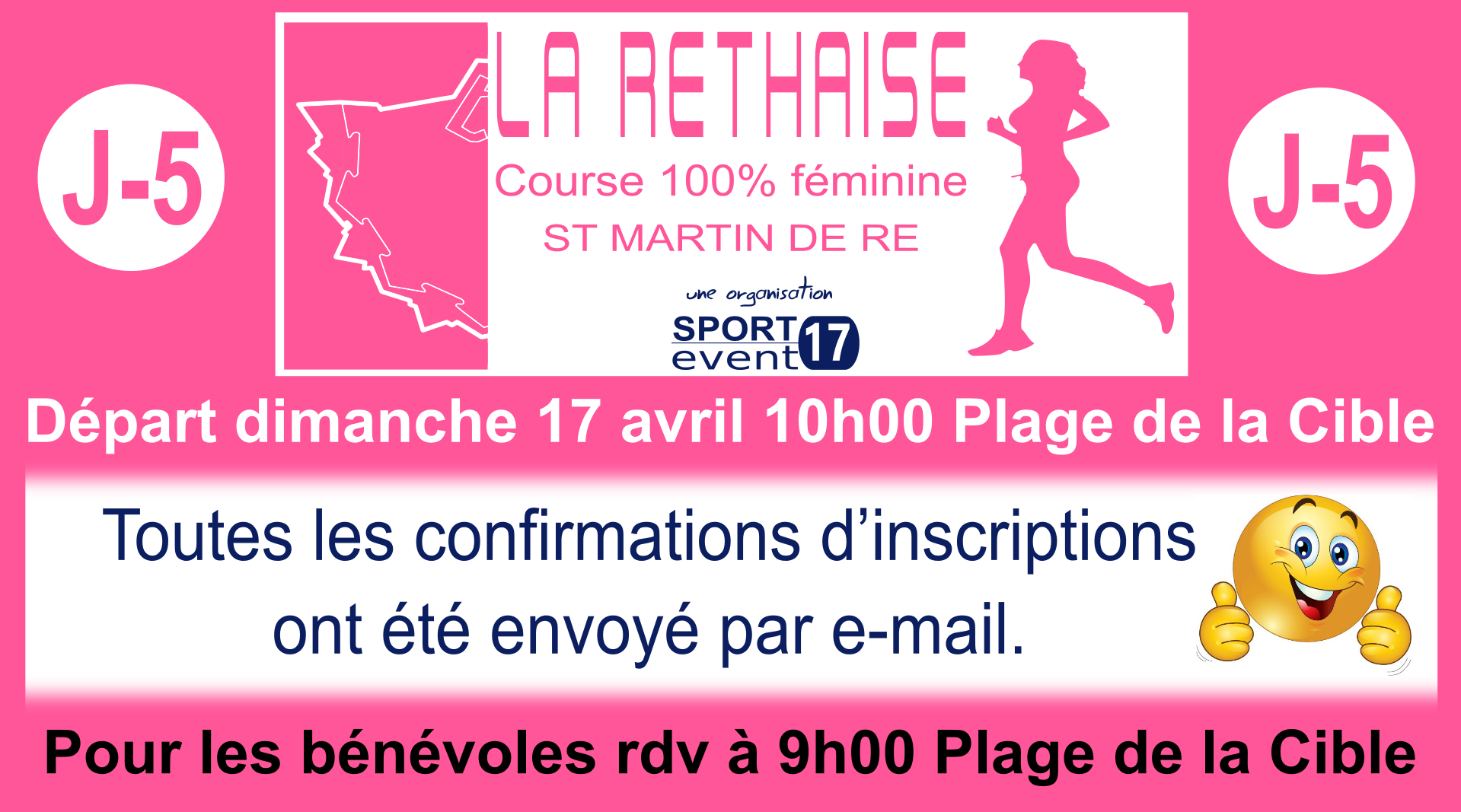 LA RETHAISE confirmation inscritions